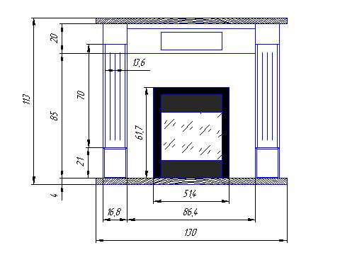 Топка электрическая для камина размеры пересечение газовой трубы и дымохода